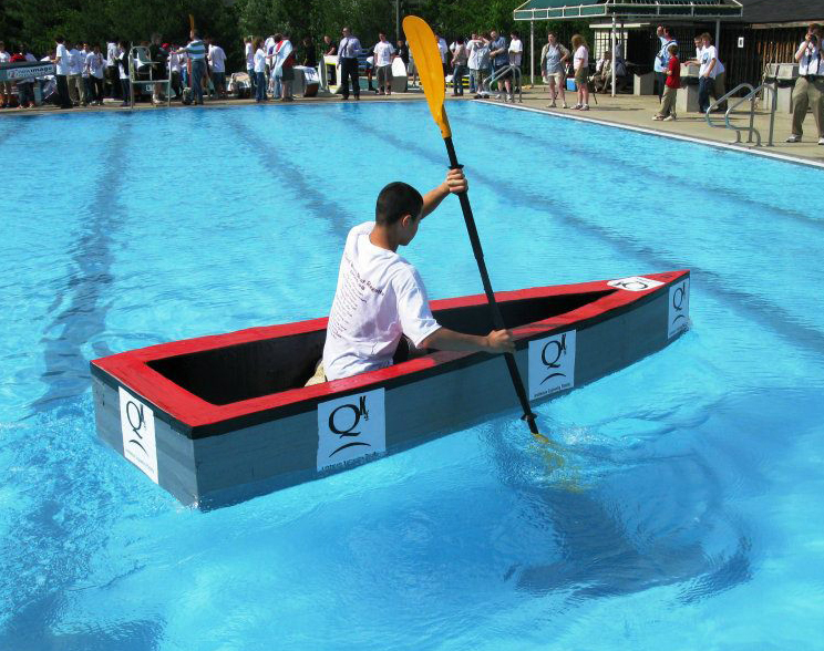 Cardboard And Duct Tape Boat