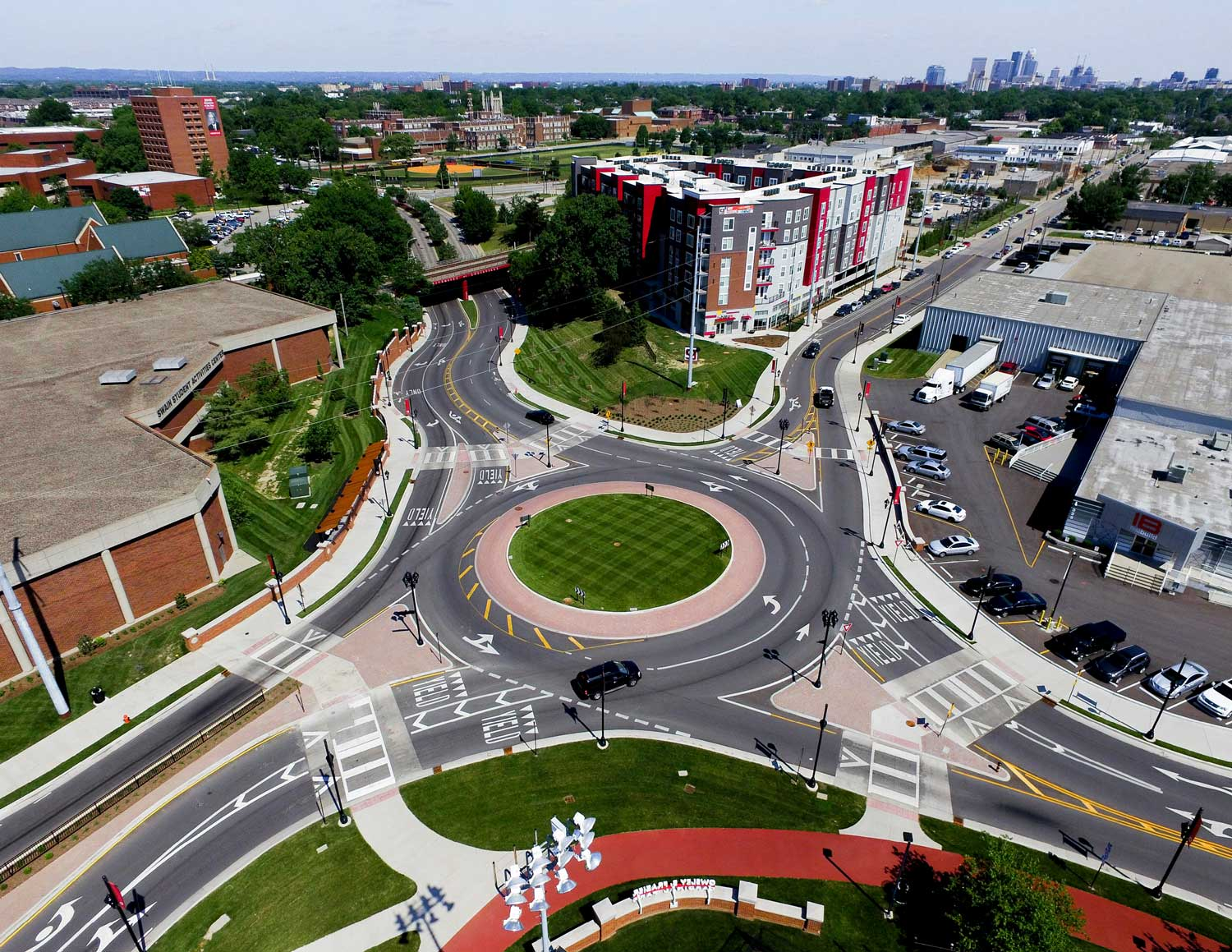 University of Louisville Roundabout Aerial View