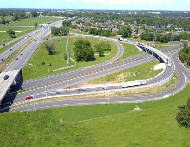 Aerial of Left Overloop